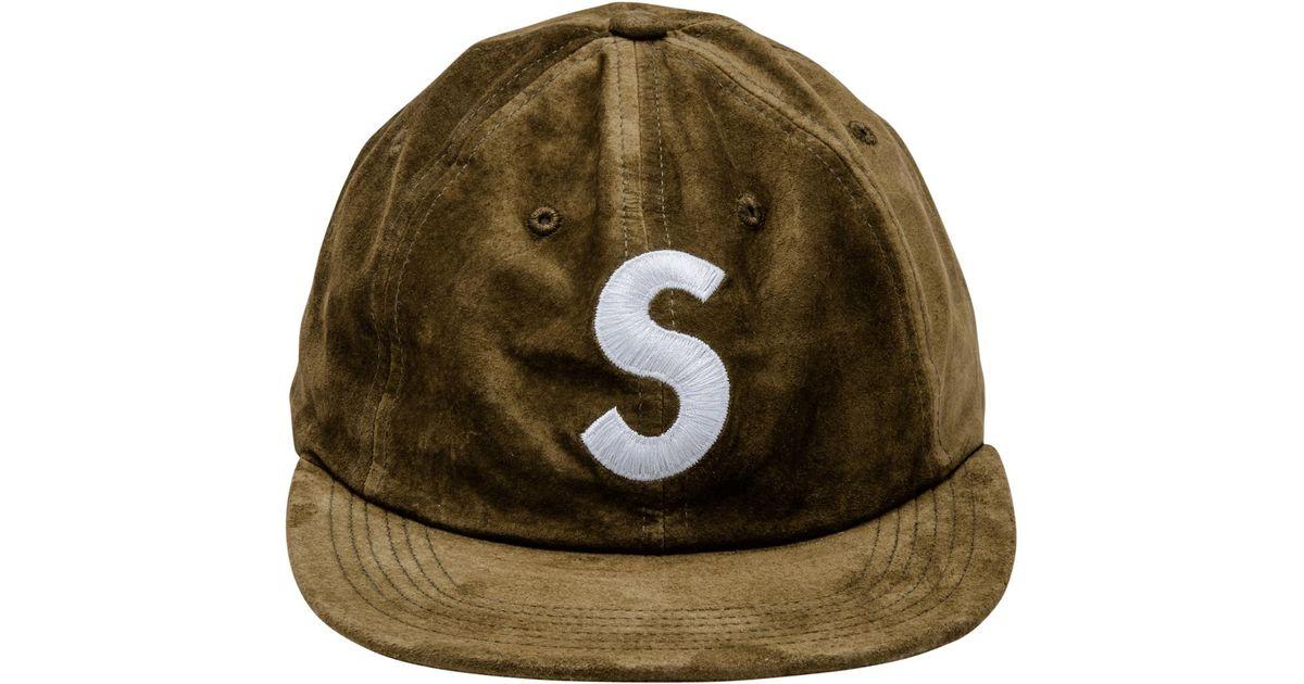 28dafa62 Supreme Suede S Logo 6 Panel in Green for Men - Lyst