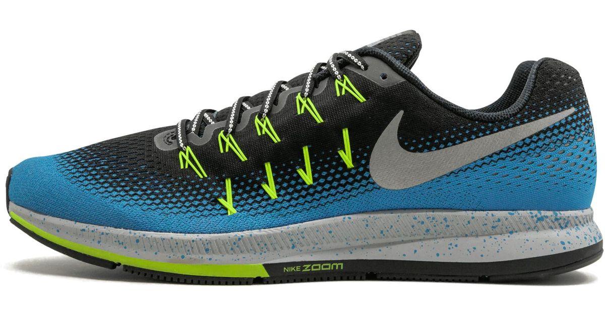 on sale 76d0d 60de2 Nike - Blue Air Zoom Pegasus 33 Shield for Men - Lyst