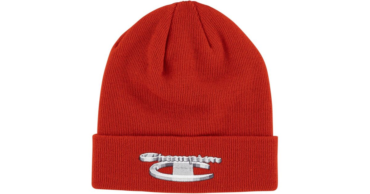 Lyst - Supreme Champion Beanie in Red for Men ad8fb6d3e29