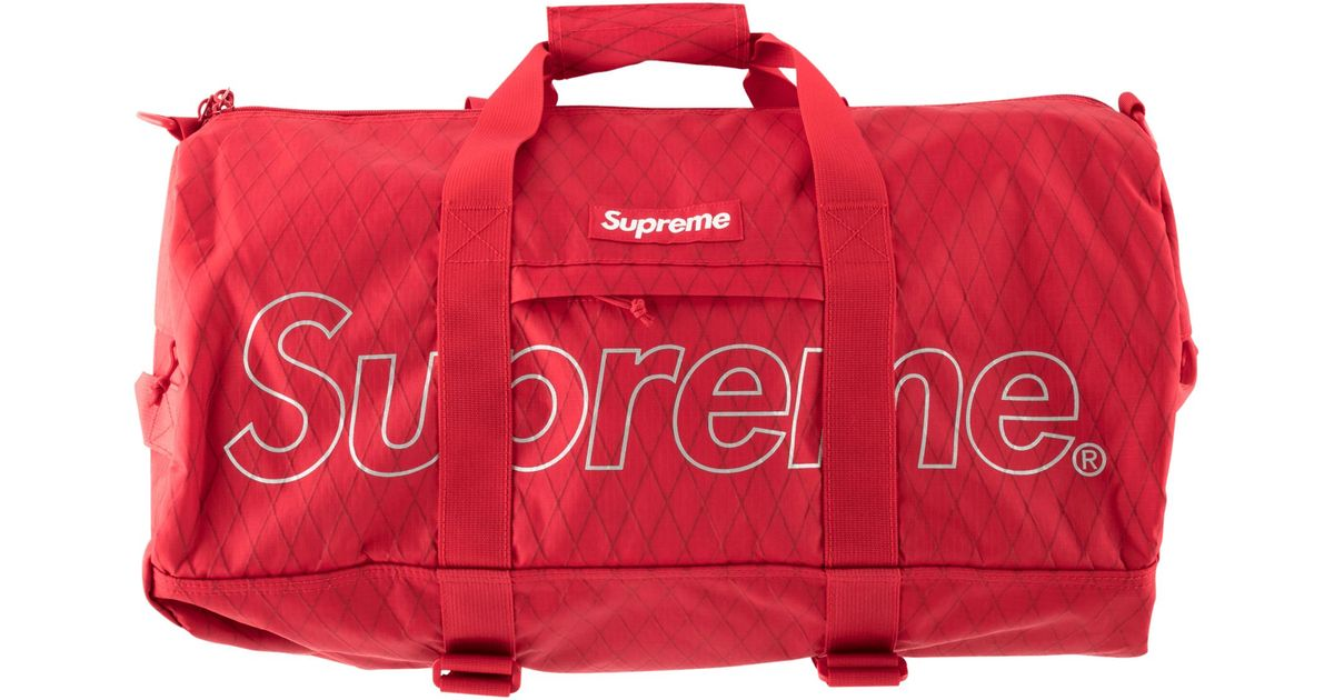 1d2c62bf41a8 Lyst - Supreme Duffle Bag in Red for Men