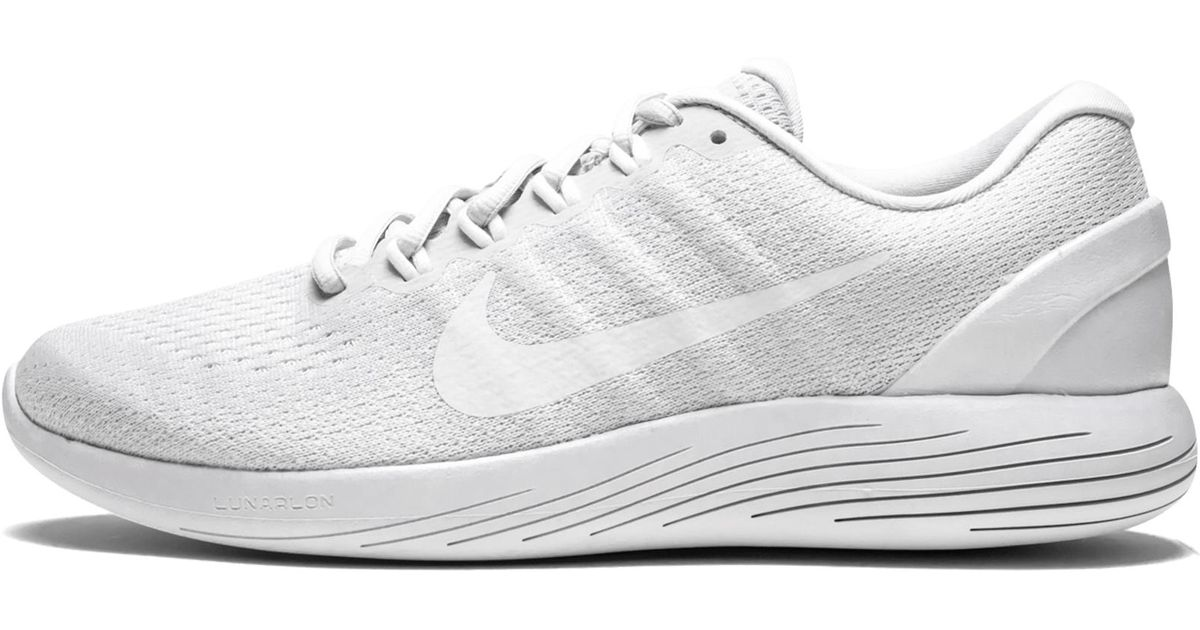 91e247086ce Lyst - Nike Lunarglide 9 in White for Men