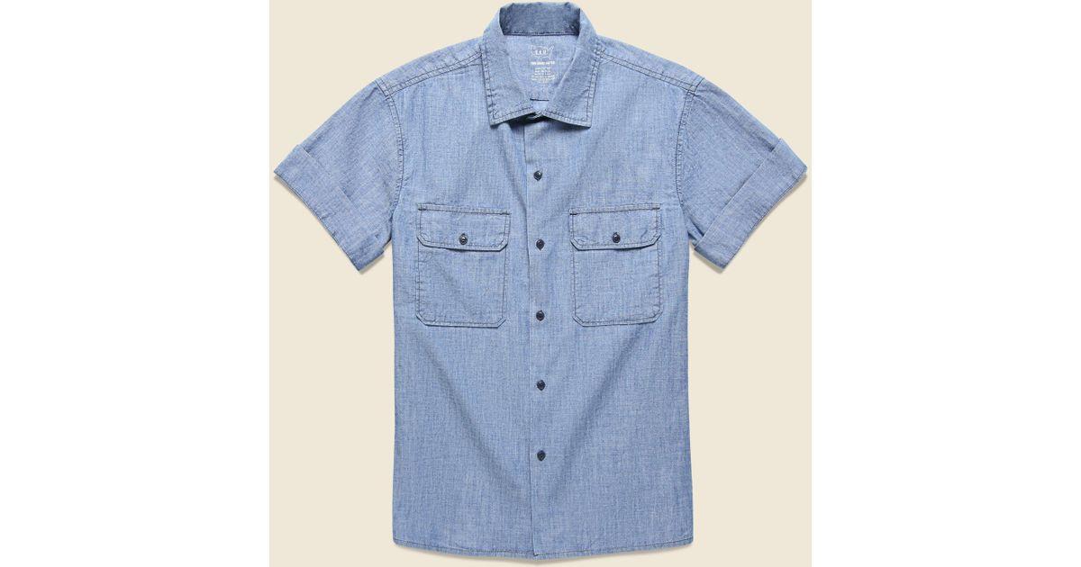 684c11610621 Save Khaki Chambray Camp Shirt - Indigo in Blue for Men - Lyst