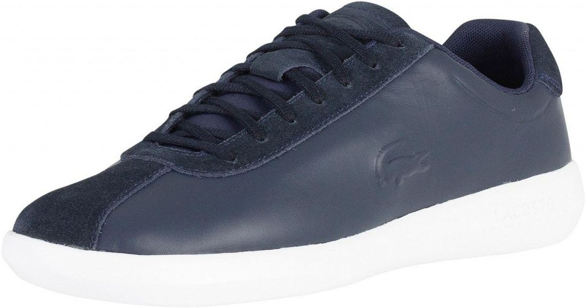 f36a7858ff6f0d Lacoste Navy white Avance 318 2 Spm Trainers in Blue for Men - Lyst