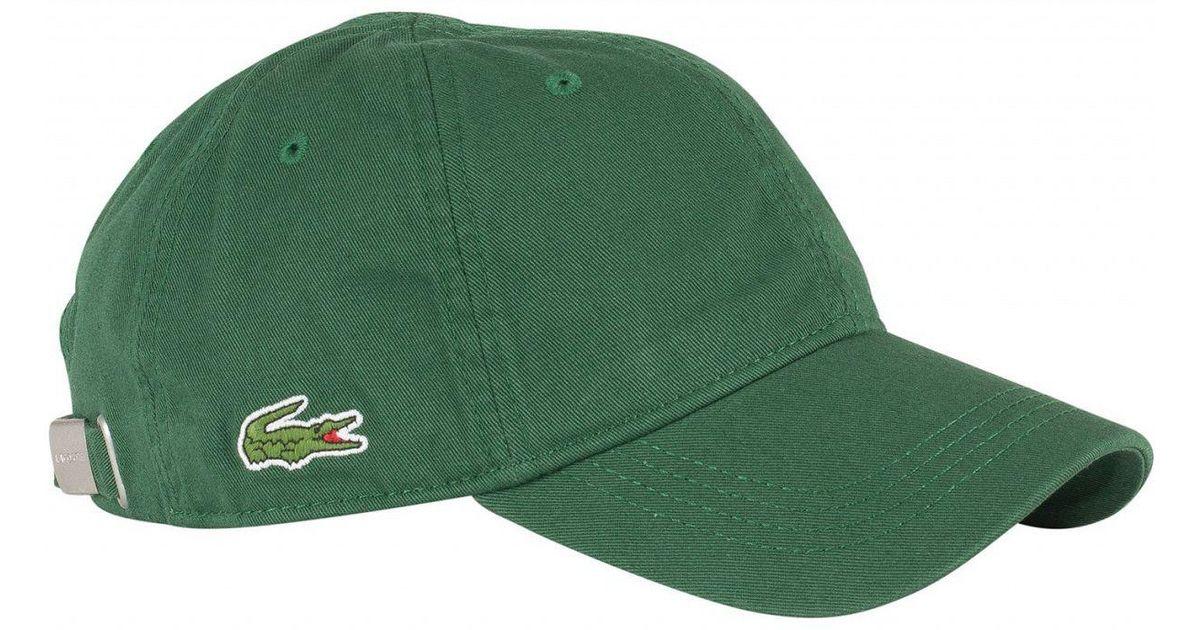 Lacoste - Green Small Logo Baseball Cap for Men - Lyst 6e57c2eec1a