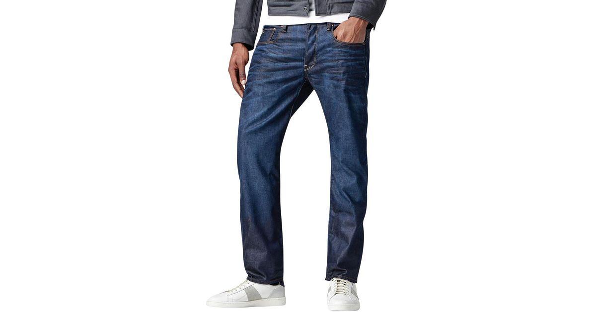 5cbb06c10bba Lyst - G-Star RAW Dark Aged 3301 Straight Hydrite Denim Jeans in Blue for  Men - Save 8%