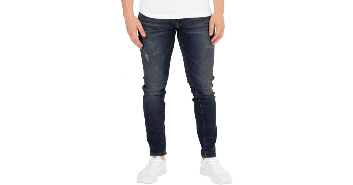 1c3072d49b9 G-Star RAW Dark Aged Antic Destroy 3301 Deconstructed Skinny Jeans in Blue  for Men - Lyst