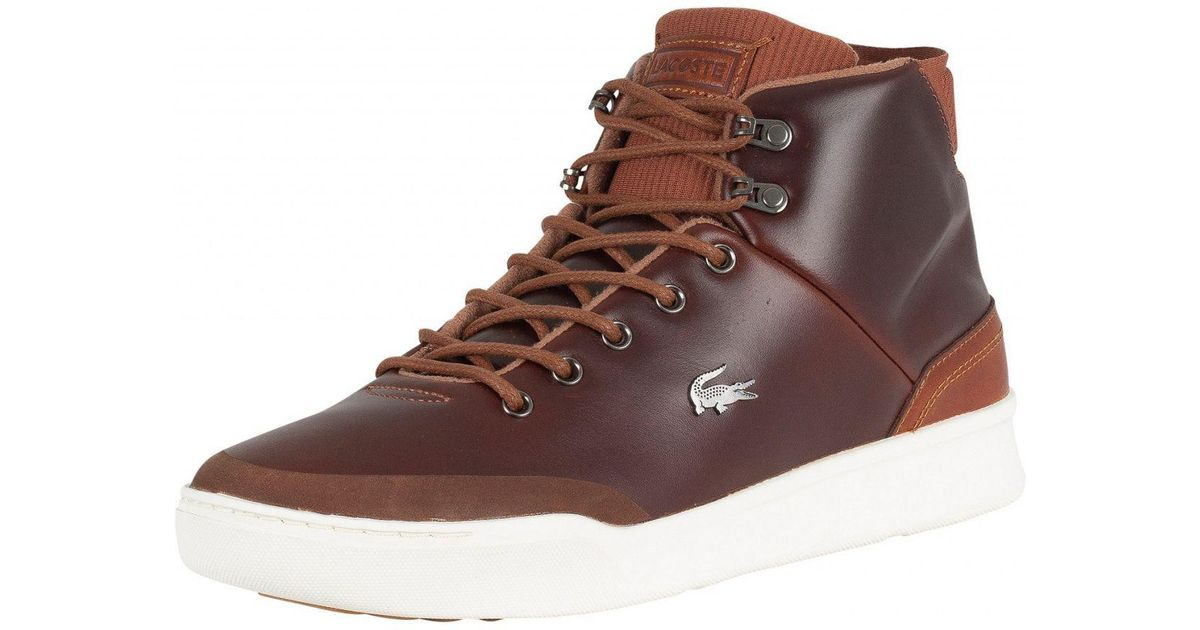 Lyst - Lacoste Tan brown Explorateur Classic 318 1 Cam Trainers in Brown  for Men d436f04129