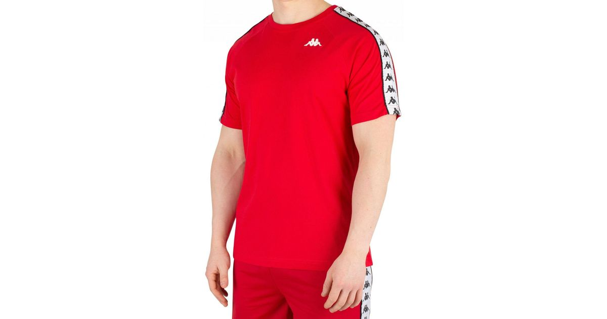 4bfe0655 Kappa Red/white/black 222 Banda Coen T-shirt in Red for Men - Save 22% -  Lyst