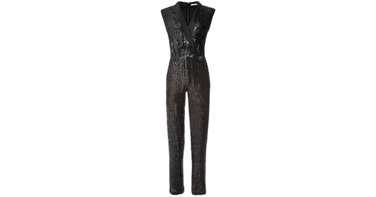 d23f7aef0c5 Lyst - Alice + Olivia Lyle Sequin Jumpsuit in Black