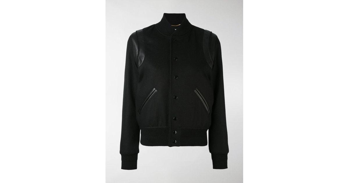 427826e2d Saint Laurent Black Classic Teddy Jacket