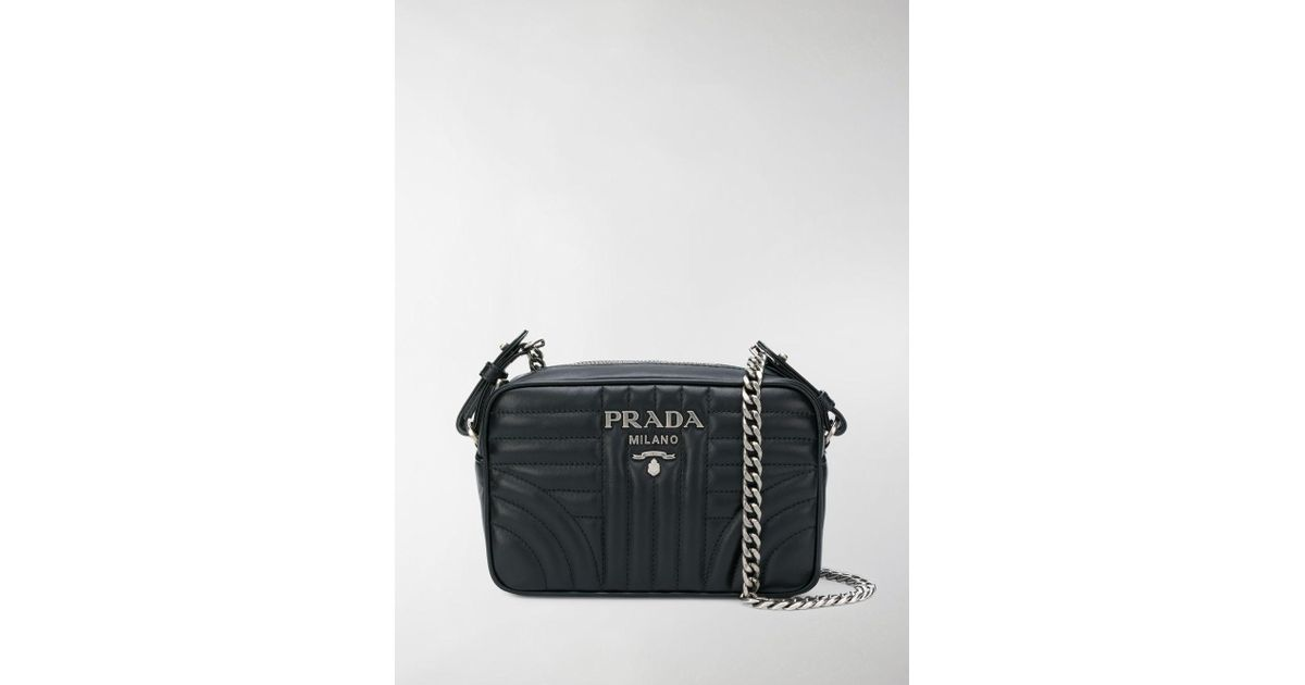 ab9ee239146 Lyst - Prada Diagramme Camera Bag in Black