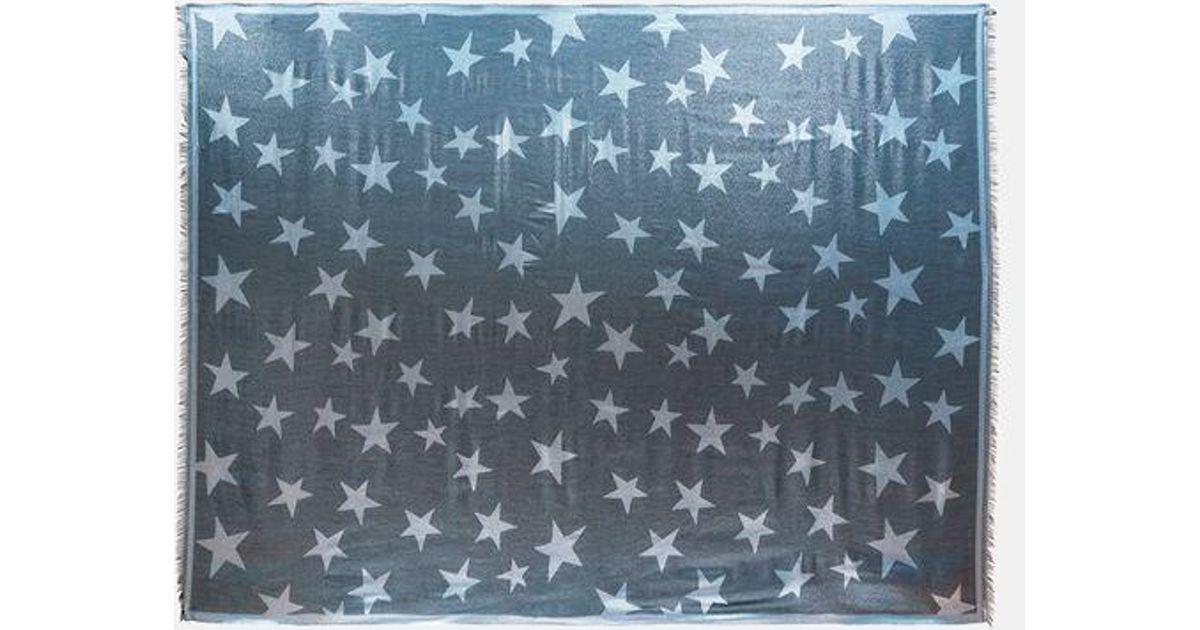 Écharpe Métallique Étoile - Bleu Stella Mccartney 0aw5L
