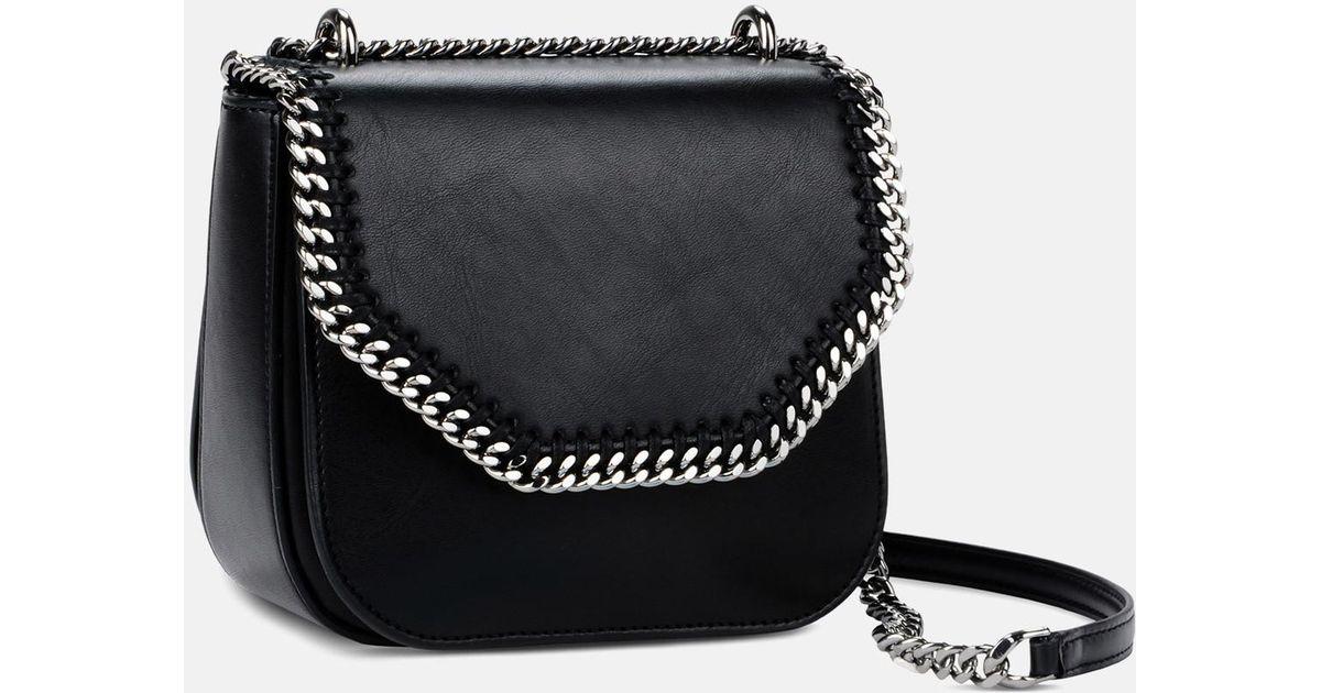 712f31415e2f Lyst - Stella McCartney Black Falabella Box Mini Shoulder Bag in Black