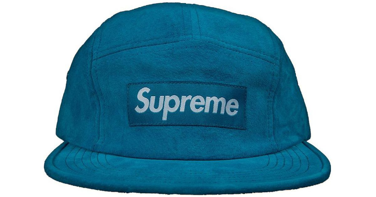 Lyst - Supreme Suede Camp Cap Turquoise in Blue for Men 7dcbf33b2dee