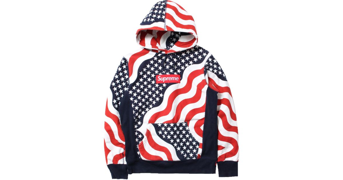 fae2462a77 Supreme Box Logo Pullover Hoodie Multi in Red for Men - Lyst
