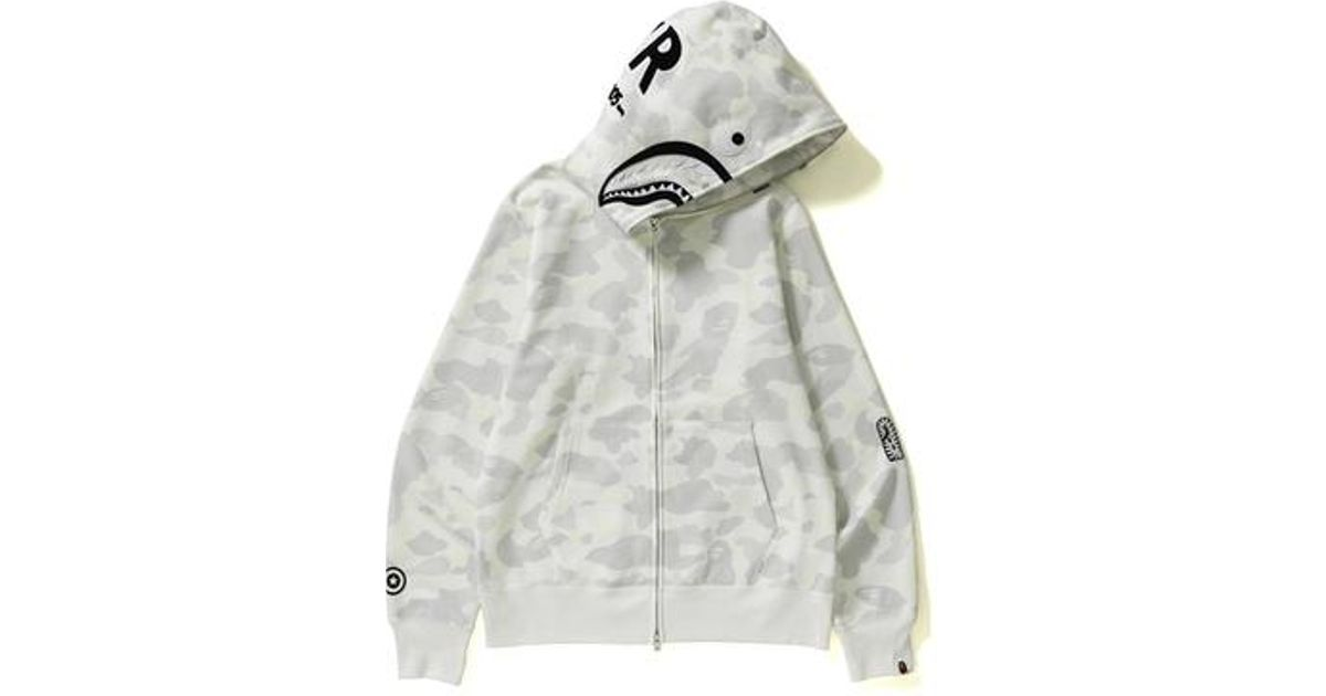 f7a22be2443a Lyst - A Bathing Ape City Camo Shark Full Zip Hoodie White black in ...