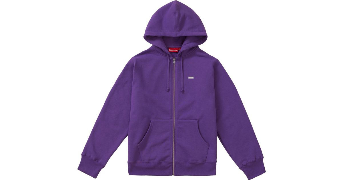 627d1a3ad2e9 Lyst - Supreme Reflective Small Box Zip Up Sweatshirt Violet in Purple for  Men