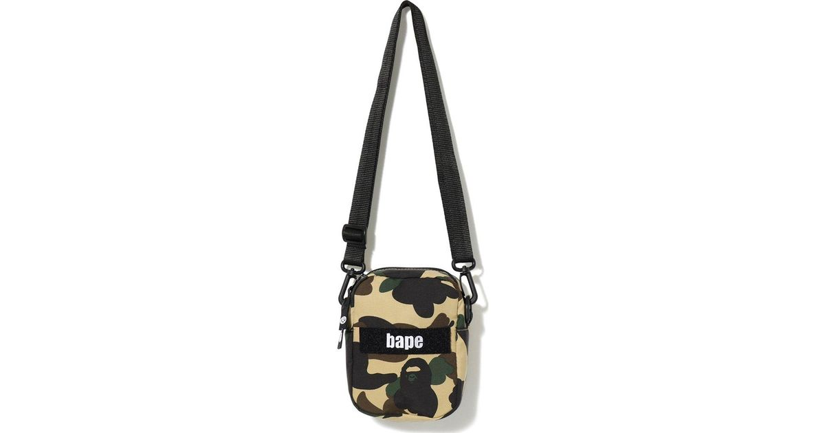 06e03cdc A Bathing Ape 1st Camo Military Shoulder Bag Yellow in Yellow for Men - Lyst