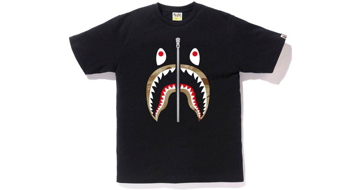 60f5ad9e A Bathing Ape Gradation Camo Shark Tee Black/navy in Black for Men - Save  55% - Lyst
