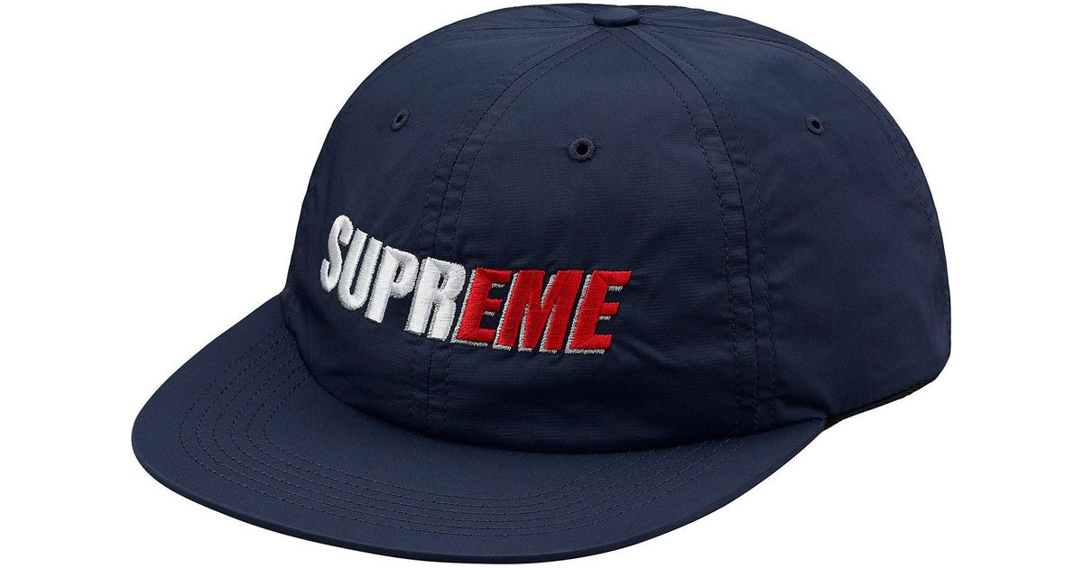 92236a71 Supreme 2-tone Nylon 6-panel Navy in Blue for Men - Lyst