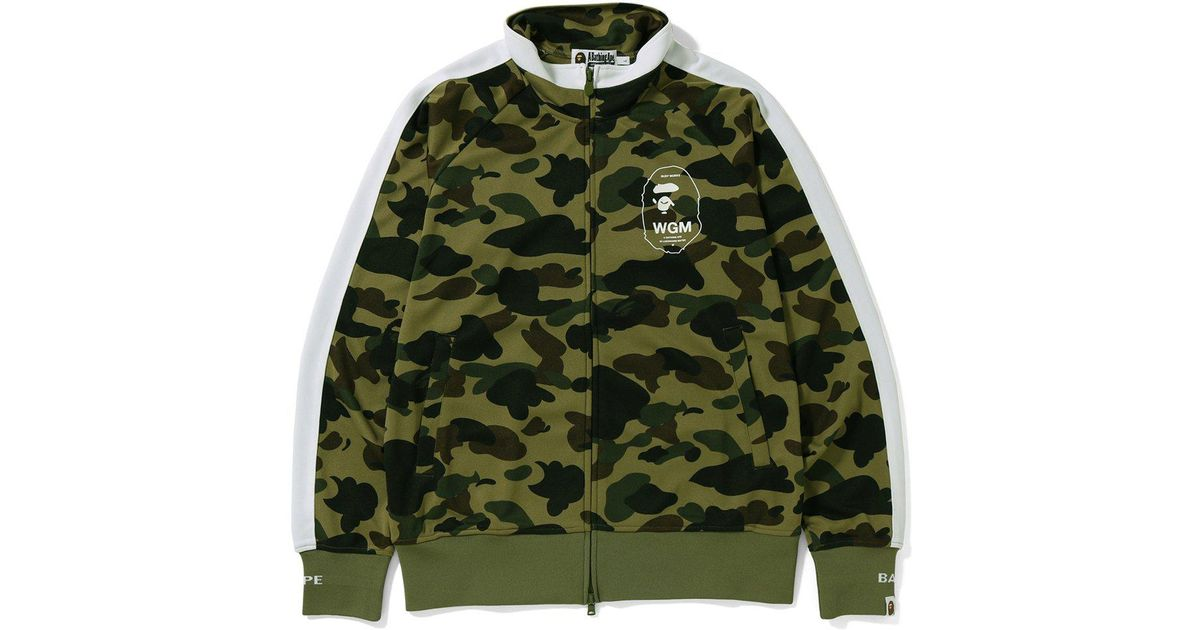 8df16fc3 Lyst - A Bathing Ape 1st Camo Line Jersey Top Green in Green for Men