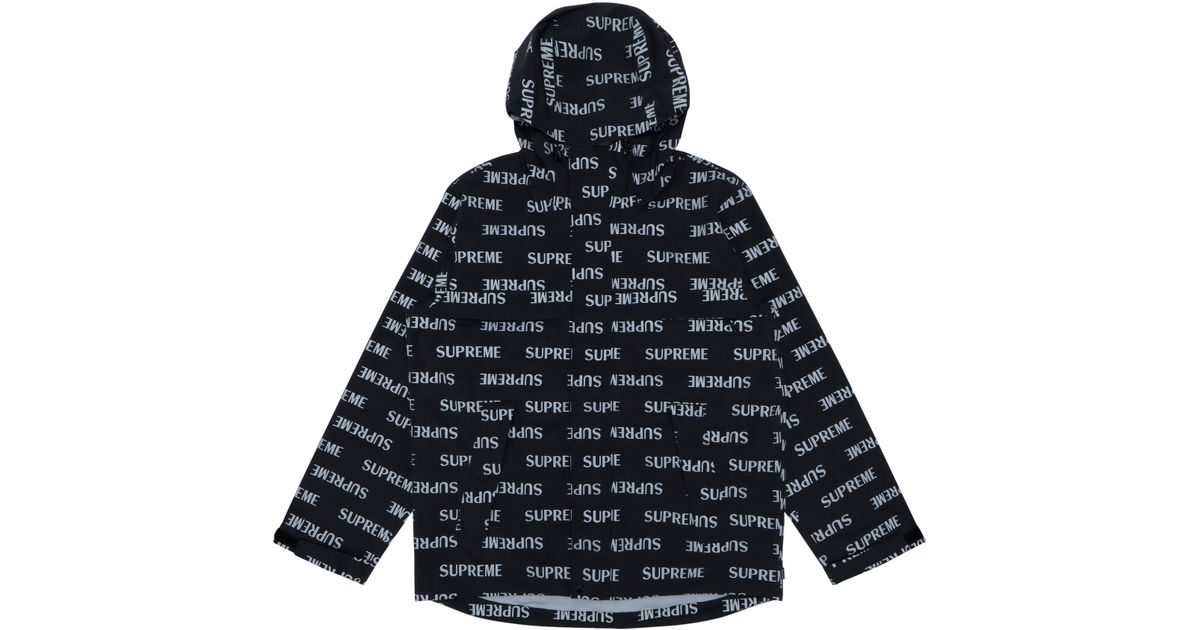 Supreme 3m Reflective Repeat Taped Seam Jacket Black In For Men Lyst