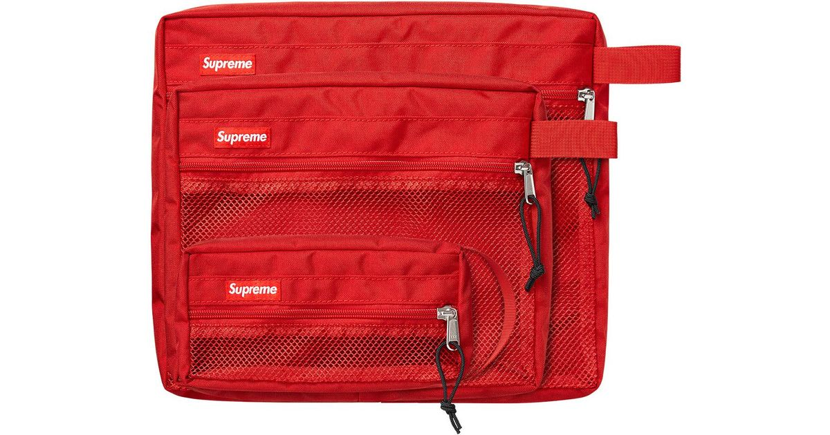 afa96225351 Supreme Mesh Organizer Bags Red in Red - Lyst