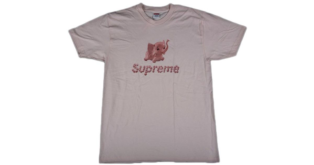 66930ee27460 Lyst - Supreme Elephant Tee Pink in Pink for Men