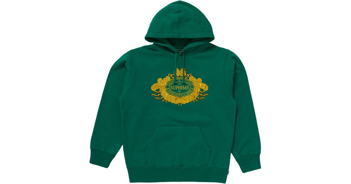 0980ce3c Supreme Love Or Hate Hooded Sweatshirt Green in Green for Men - Lyst