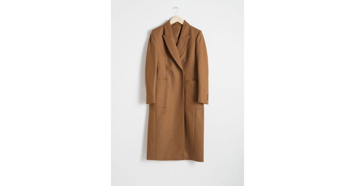 0866864ae9a & Other Stories Structured Wool Blend Coat in Natural - Lyst