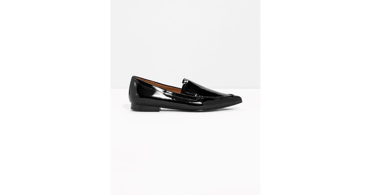 7d0c2b55f82 Lyst -   Other Stories Pointy Patent Loafer in Black