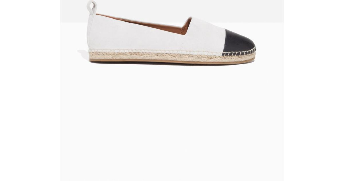 817a8a9d38f Lyst -   Other Stories Leather Toe Espadrilles in White - Save 49%