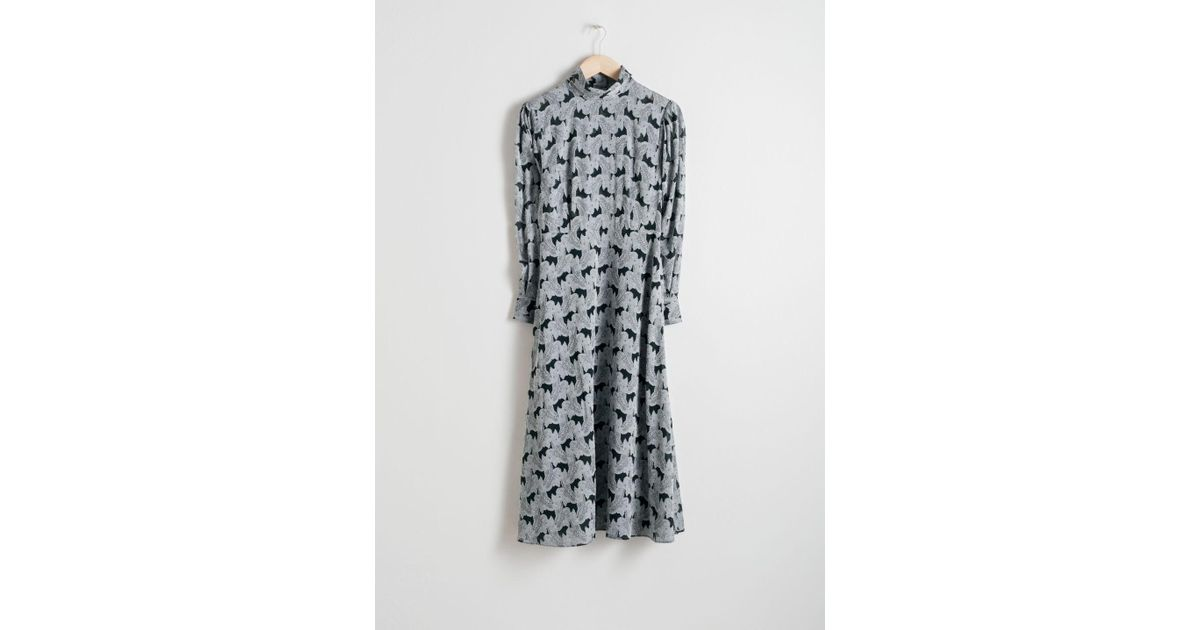 0e3cedc30c Lyst -   Other Stories Turtleneck Jacquard Dress in Green