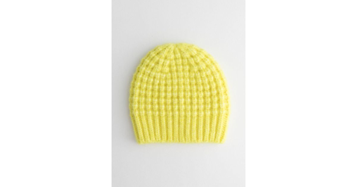 d4039d51003 Lyst -   Other Stories Cable Rib Knit Beanie in Yellow