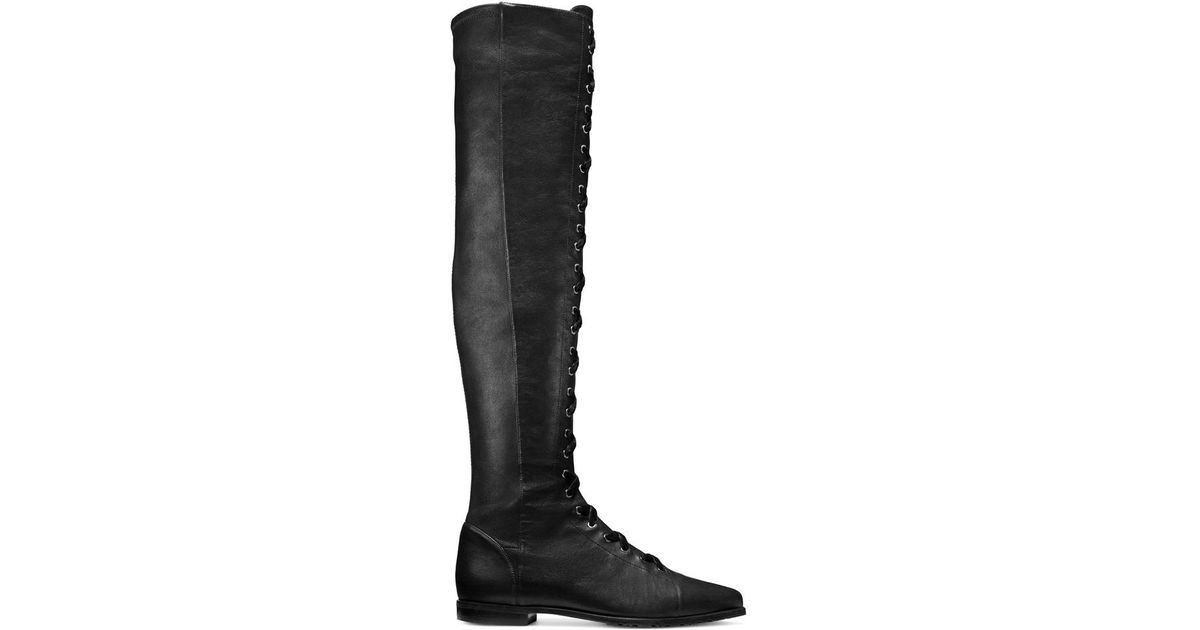 2d7474c1faf Lyst - Stuart Weitzman The Saga Boot in Black