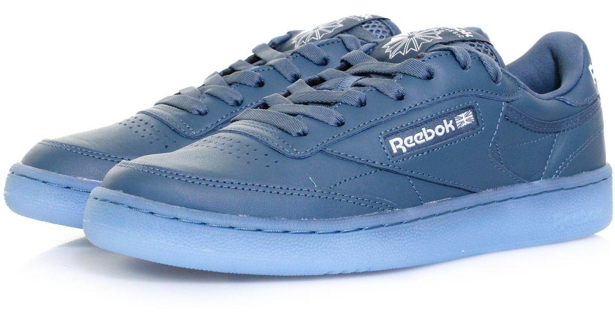 19ebf7f9e44 Lyst - Reebok Club C85 Ice Blue Shoe in Blue for Men