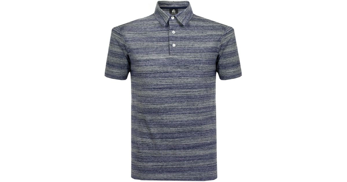 efc9f68806af Ps By Paul Smith Paul Smith Striped Navy Polo Shirt Psxd- in Blue for Men -  Lyst