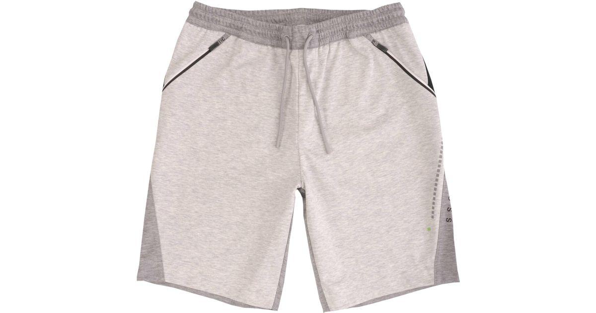 de6a3e5ac BOSS Hsl-tech Shorts - Light Grey in Gray for Men - Lyst