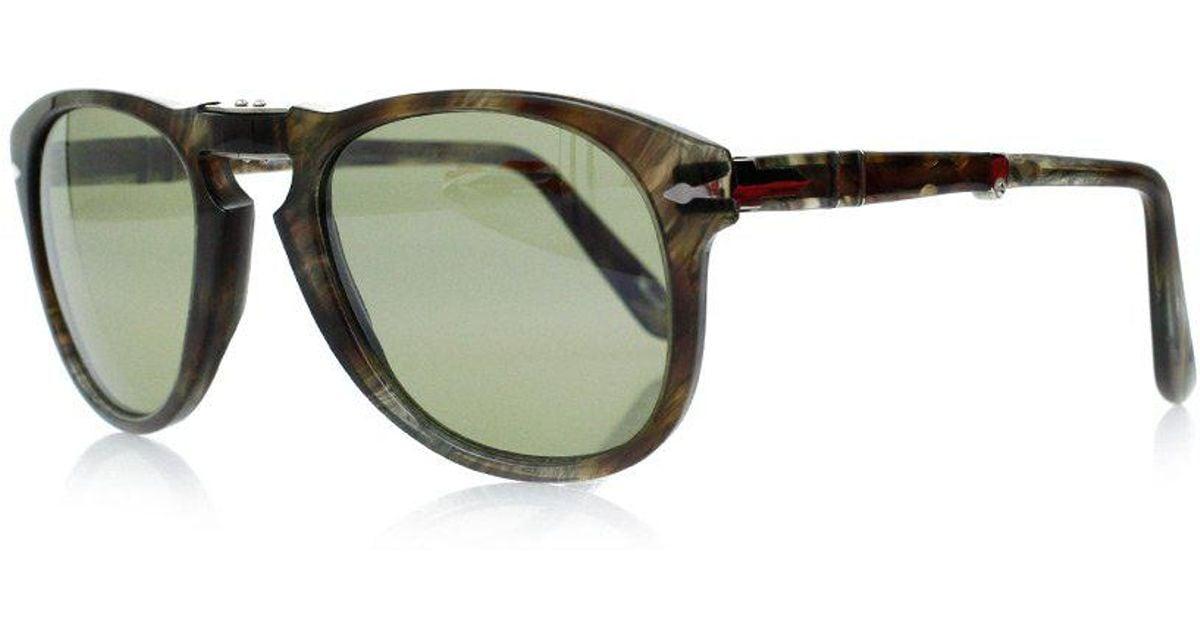 85ad23aed96 Lyst - Persol Po0714 Tortoise Green Foldable Sunglasses 0po0714 972 ...