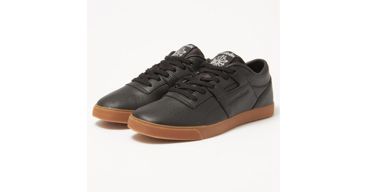 bb762b628a0 Reebok Workout Low Clean Fvs Gum Black Sneakers in Black for Men - Lyst