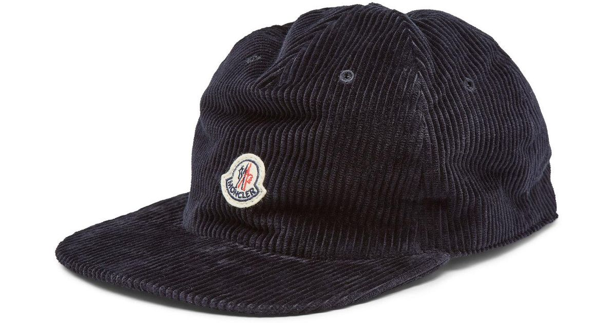 8b7b731d596 Lyst - Moncler Logo Baseball Cap Black in Black for Men