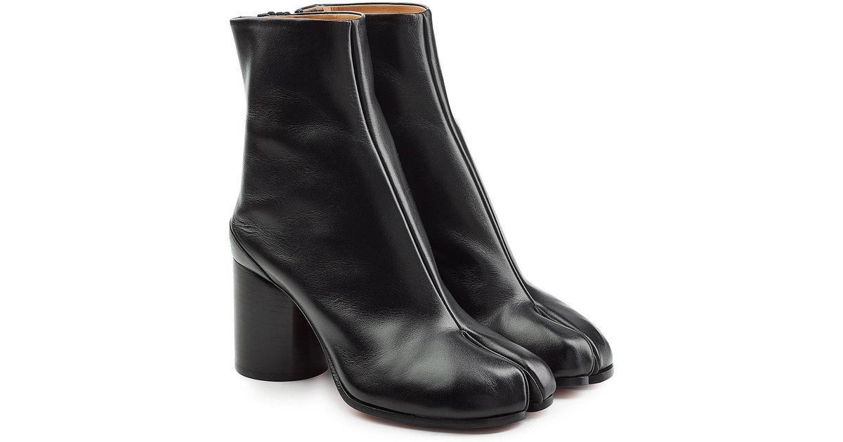 229853ea889 Lyst - Maison Margiela Leather Split Toe Ankle Boots in Black