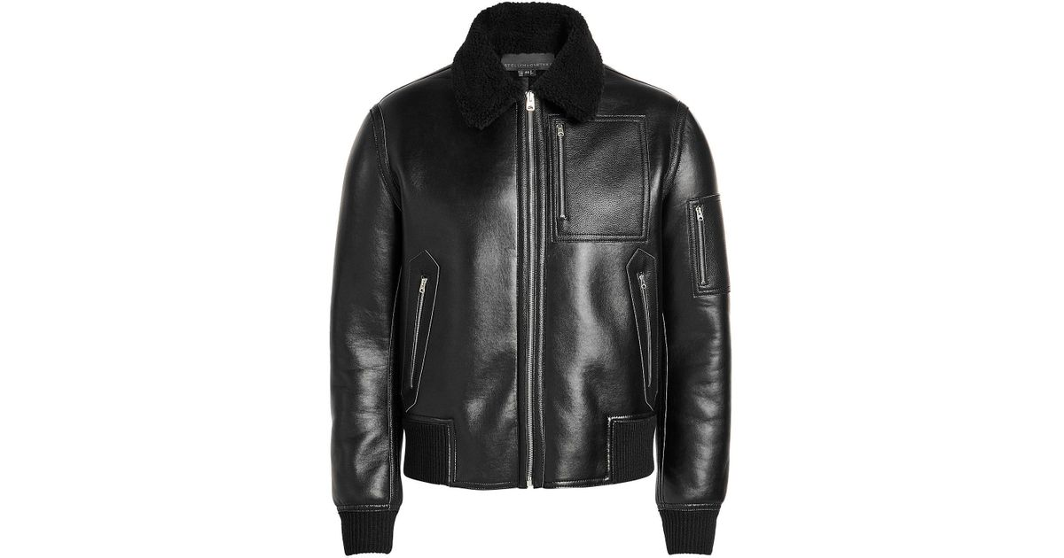 Lyst For Men Mccartney Liam Stella In Leather Faux Jacket Black HHZF8