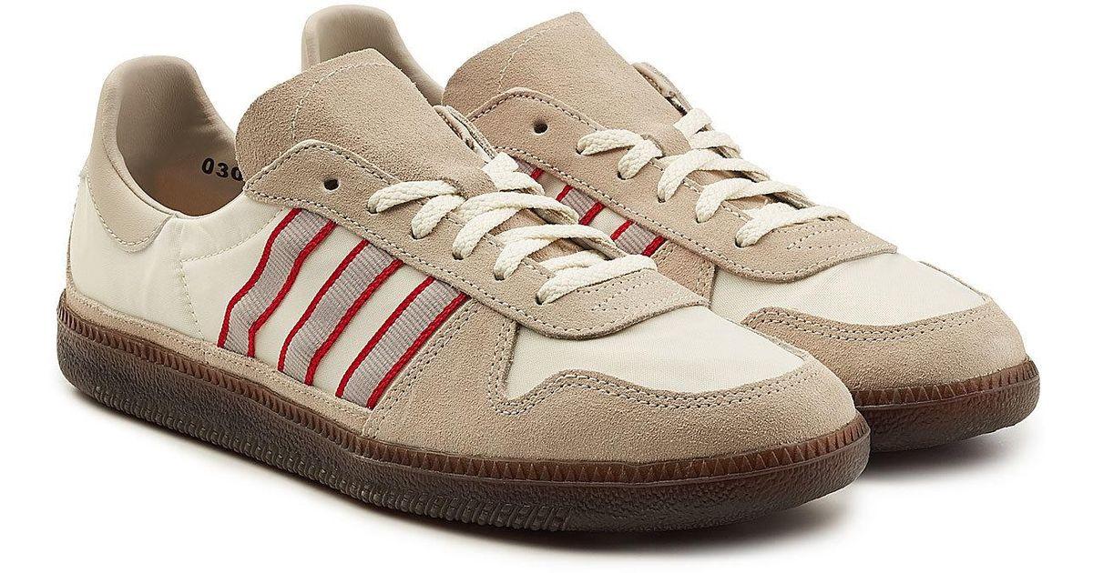 lyst adidas originali hulton spzl scarpe con cuoio e pelle scamosciata