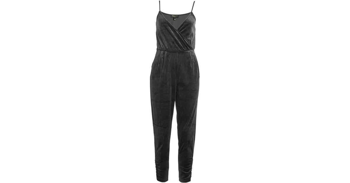 85829edce5cb Lyst - Juicy Couture Velvet Jumpsuit in Black