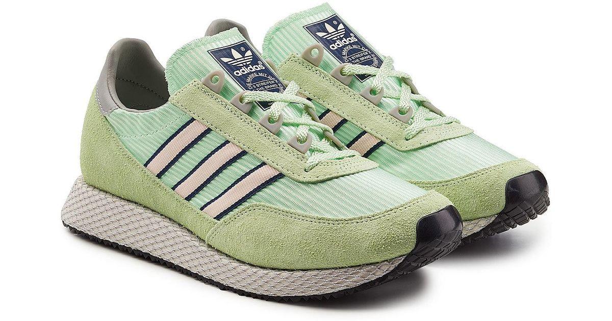 promo code 3949e f3edb Lyst - adidas Originals Glenbuck Spzl Sneakers With Suede in Green for Men