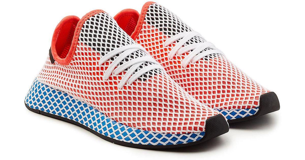 Lyst adidas Originals deerupt Runner zapatillas en rojo