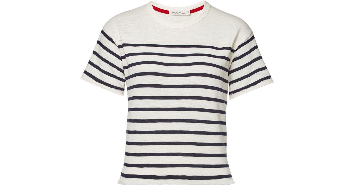878fbb379a Lyst - Rag & Bone Halsey Striped Cotton T-shirt