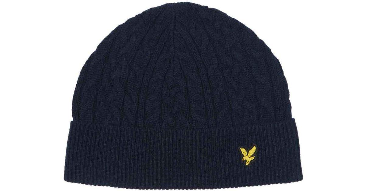 82660dc3d6d Lyle   Scott Cable Knit Beanie Hat in Blue for Men - Save  17.647058823529406% - Lyst