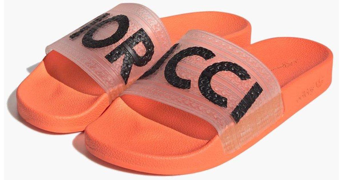 c421ad56c8e Lyst - adidas Originals Adidas Originals Fiorucci Adilette in Orange
